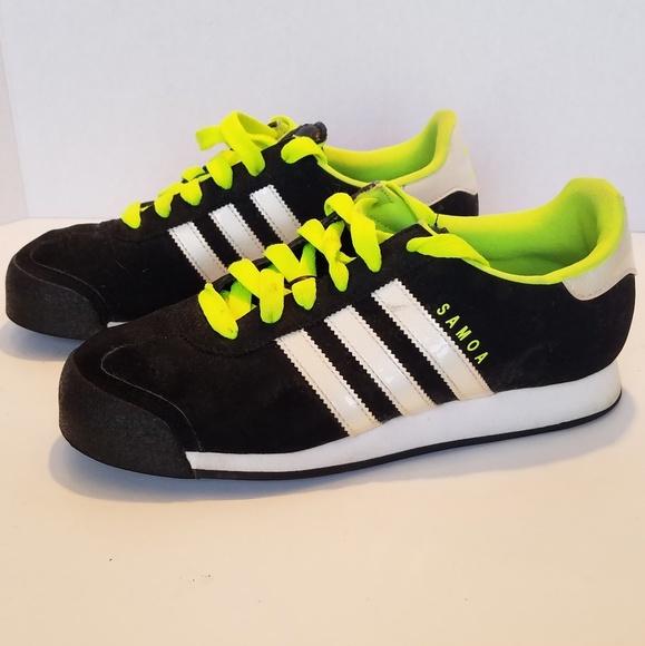 Mens Adidas Samoa Sneakers Black Lime
